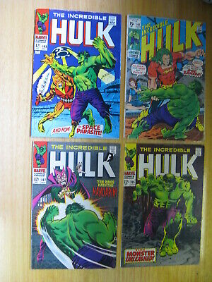 Incredible Hulk Silver Bronze Age Lot With Keys. 103, 105, 107,141 Etc.