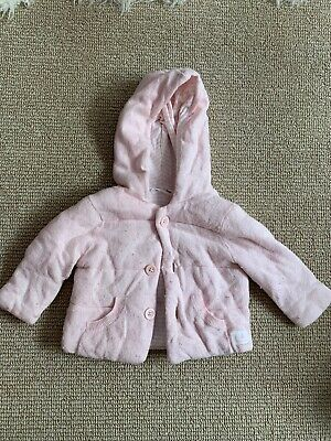 COUNTRY ROAD Baby Girl Pink Jersey Knit jacket, coat with hood