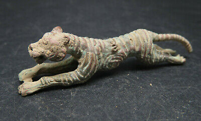 Ancient Roman Bronze Tiger Figure Metal Detecting