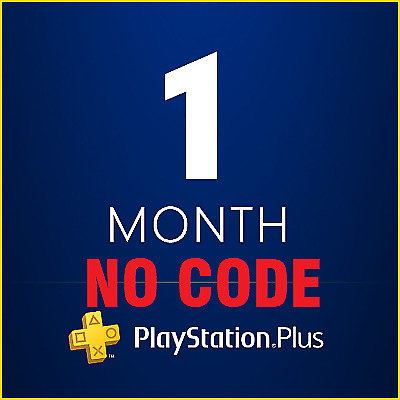 PS Plus 1 Month Playstation Plus Subscription PS4 PS3 PSV INSTANT DELIVERY