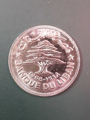 1968 Lebanon 1 Livre coin - Fruit ( 1 Lira ) - Please see pictures
