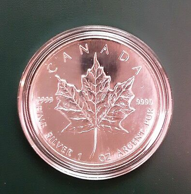 1999 CANADA Maple Leaf 1 oz 9999 pure silver - in air-tite