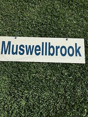 City Rail Station Destination Double Sided sign (Muswellbrook) (760 x 230mm)