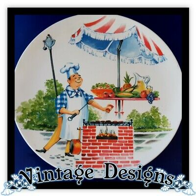 Retro Melamine Vintage Picnic Ware BBQ Plate Serving HOLLYWOOD Character Plate