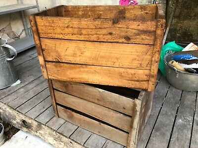 Old wooden fruit boxes