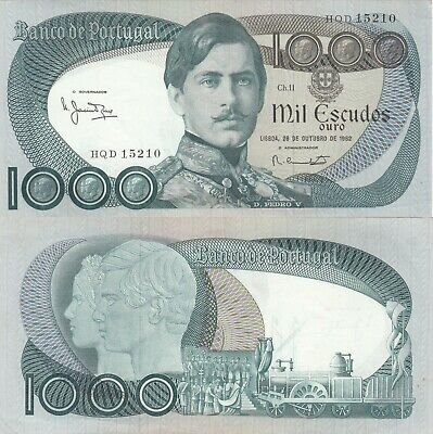 Portugal 1000 Escudos RARE Banknote (What you see is what you get)