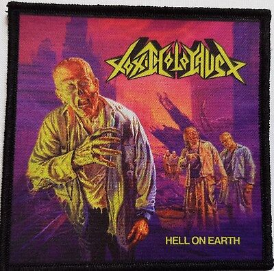 Toxic Holocaust - Hell On Earth -  printed patch - FREE SHIPPING !!!!!!!