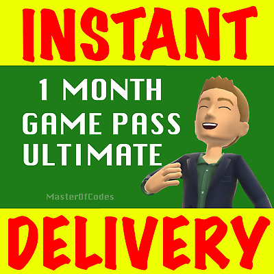 1 Month Xbox Ultimate Game Pass Live Gold+Game Pass-Pc/Xbox One- Genuine & Legal