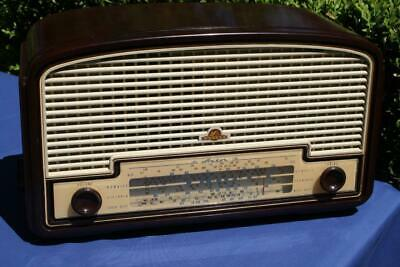Superb Vintage Mottled Brown Bakelite Astor Valve Radio
