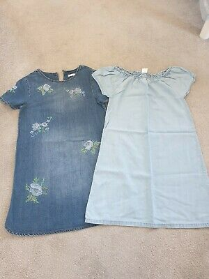 **Next Girls Denim/Chambray Dresses Age 9 8-9 Years Immaculate Condition**