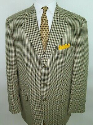 Ralph Lauren Men's Silk Wool Micro-Checks Blazer Jacket Sport Coat 44 L EUC