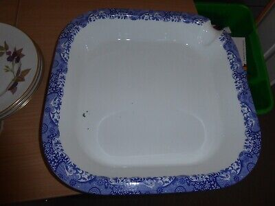 BNWT Spode Blue  Italian Aga large baking  dish with lip expensive marked
