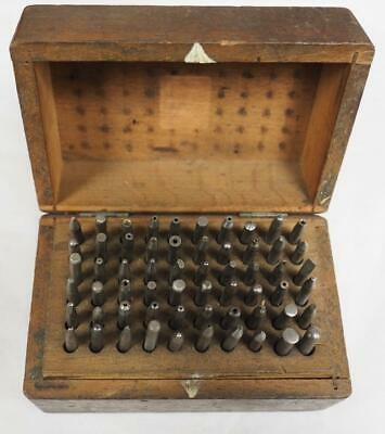 Vintage Clockmakers Staking Set 60 Stakes With Box Clockmakers Tool
