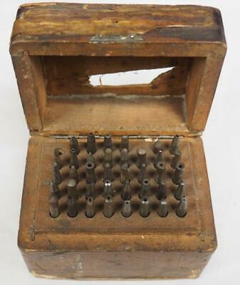 Vintage Clockmakers Staking Set 38 Stakes With Box Clockmakers Tool