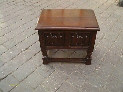 antique oak lift lid stool