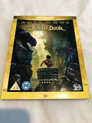 The Jungle Book 3D Blu-Ray New & Sealed With Slipcover Disney Live