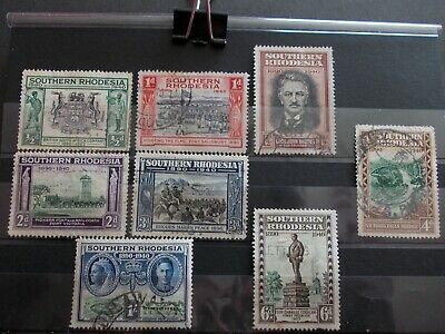 Southern Rhodesia - 1940 Full Set Used, 50th Jubilee of S Africa