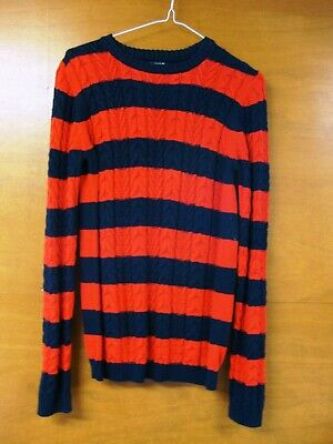 Next Blue & Red Striped Long Sleeved Cable Knit Jumper Size 13 Years Old