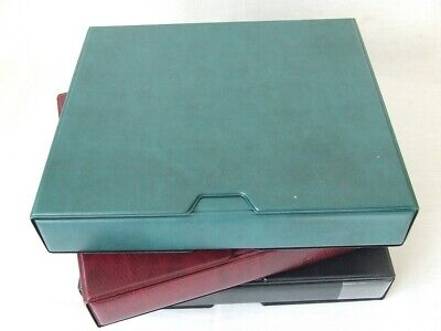 Large 4 Ring Luxury Padded Stamp Album & Slipcase, Choose From Various Colours