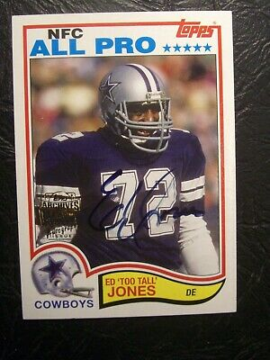 "Ed ""Too Tall"" Jones Autograph 2001 Topps Archives Fan Favorites SP Auto NM/Mint"