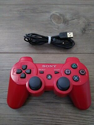 Original Sony PlayStation 3 Ps3 Dualshock Sixaxis Wireless Controller - Red