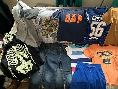 Boys Clothes Bundle 7-8 15 Items Gap, M&S, F&F, Next, George. All Good Cond