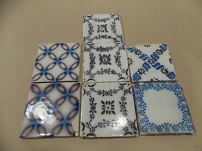 Asorted set of antique 7 Tiles made in France during 1800s