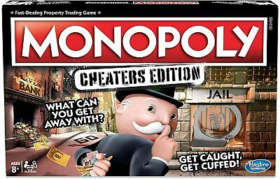 Monopoly Cheaters Edition Board Game Hasbro Ages 8 and up