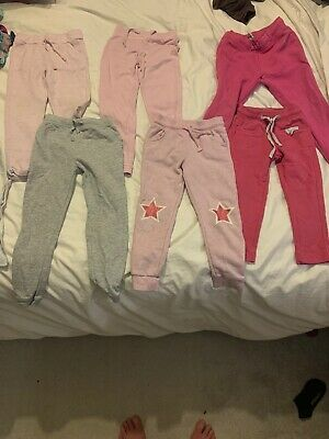 6 Pairs Of Girls Age 4-5 Jogging Bottoms