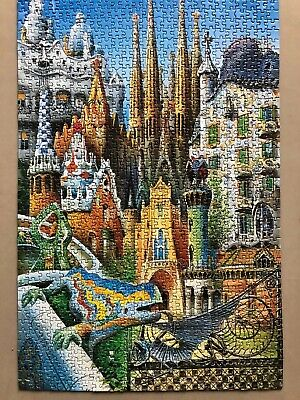 Educa - Barcelona Collage - RARE - 1000 pc jigsaw - SUPER challenging - COMPLETE