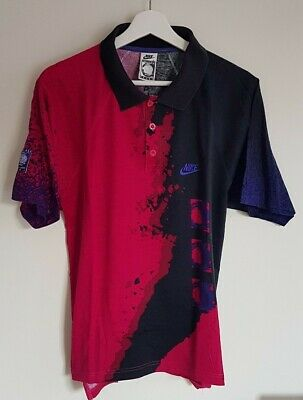 CHALLENGE COURT ANDRE AGASSI NIKE TENNIS Polo T SHIRT RARE