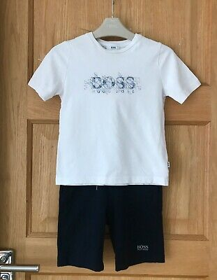 HUGO BOSS *2-3y BOYS DESIGNER SHORTS T-SHIRT Summer Outfit AGE 2-3 YEARS