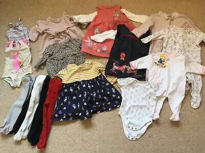 Baby Girls 3-6 Months Clothes Bundle 5 Outfits, 3 Sleepsuits, 2 Swimming Costume