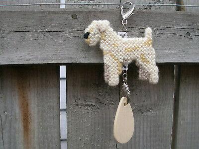 Lakeland Terrier #1 dog crate tag or hang anywhere sign art ornament, Wheaten
