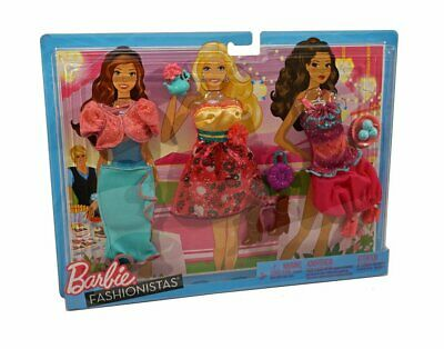 Barbie Fashionistas Fashion Day Looks Tea Party 3 Outfits And Accessories W3176