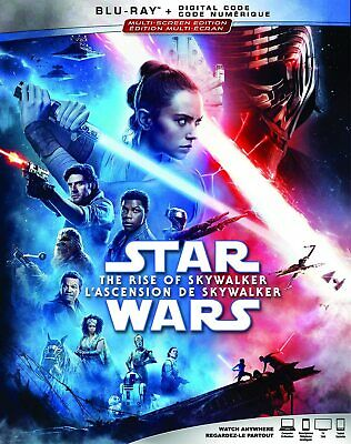 Star Wars The Rise of Skywalker BLU-RAY + DIGITAL +SLIPCOVER -Brand New & Sealed