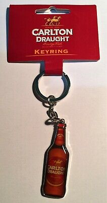 1 x  Carlton Draught, Quality metal, Key Ring, Key Chain,  Beer, Man Cave, Gift