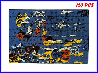 Jackson Pollock - Blue (Moby Dick) Art - 120 Piece Jigsaw Puzzle