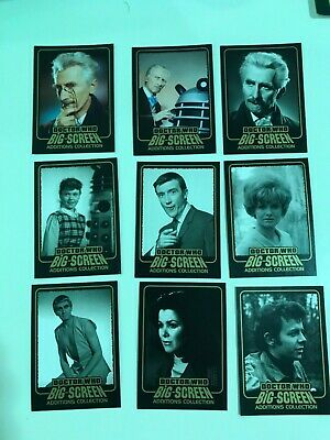 """Doctor Who Big Screen Additions - 9 Card """"Gold Inked"""" Chase Set Peter Cushing"""