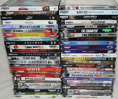 Lot Of (50) 4K Ultra Hd + Blu-Ray 50-Movies 100-Disc Bundle ✔☆Mint☆✔ No Digital!