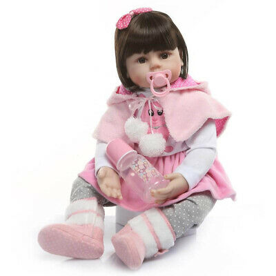 22'' Reborn Baby Dolls Girl Real Life Like Newborn Dolls+Clothes Toy Gifts