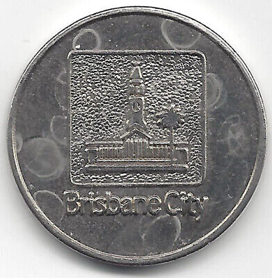 Bris City Council Dept of Works Transfer Station Exit Token 26mm Nickel Finish