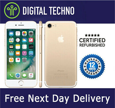 Unlocked Apple iPhone 7 - Gold - 128GB - Network & SIM Free + 1 Year Warranty
