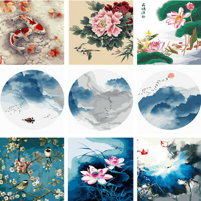 Chinese Ink Style DIY Paint By Number Kit Digital Oil Painting Wall Home Decor
