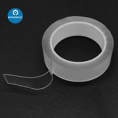 Reusable Magic Nano Tape Double Sided Traceless Adhesive Clear Tape Removable A+