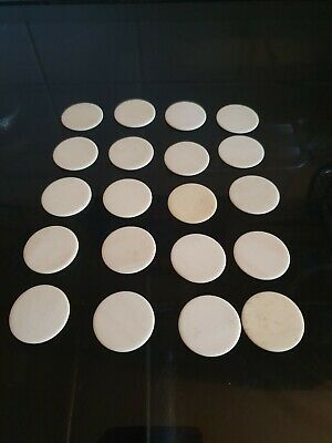 20 X Antique Chinese Bone Bovine Gaming Counters 40mm X 35mm