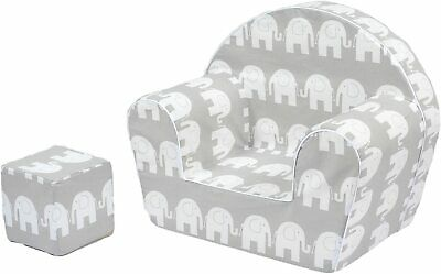 MuseHouse Childrens Chair Armchair Seat Stool for Kids Toddlers ELEPHANT
