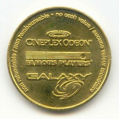 TOKEN Canadian CINEPLEX ODEON FAMOUS PLAYERS GALAXY Game Token NO CASH VALUE