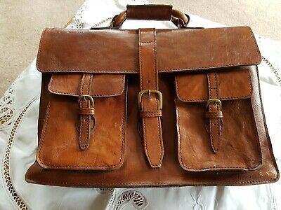 Vintage Heavy Duty Leather Briefcase/Music Case
