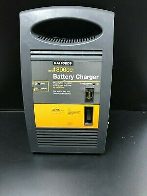 HALFORDS CAR BATTERY CHARGER LEAD ACID BATTERY UP TO 1800cc 12v